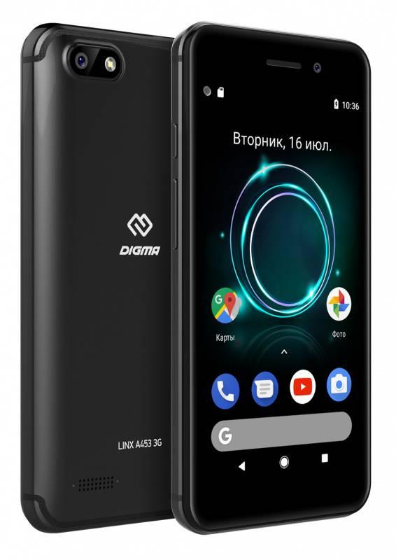 Смартфон Digma A453 3G Linx 8ГБ черный (LT4038PG) - фото 5