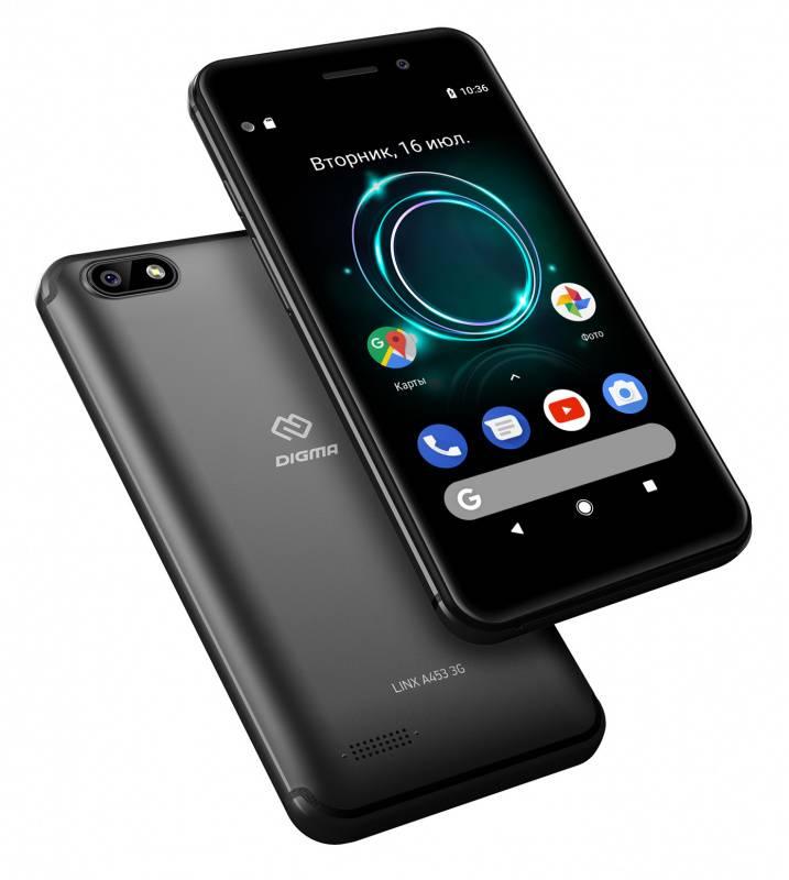 Смартфон Digma A453 3G Linx 8ГБ черный (LT4038PG) - фото 6