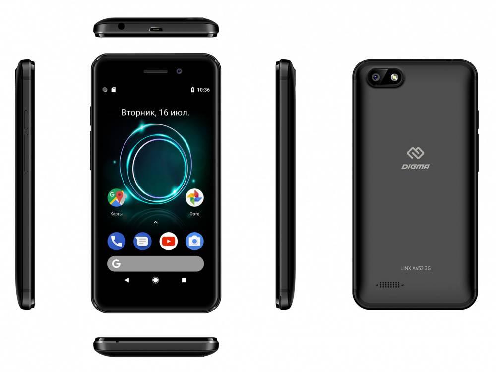 Смартфон Digma A453 3G Linx 8ГБ черный - фото 8