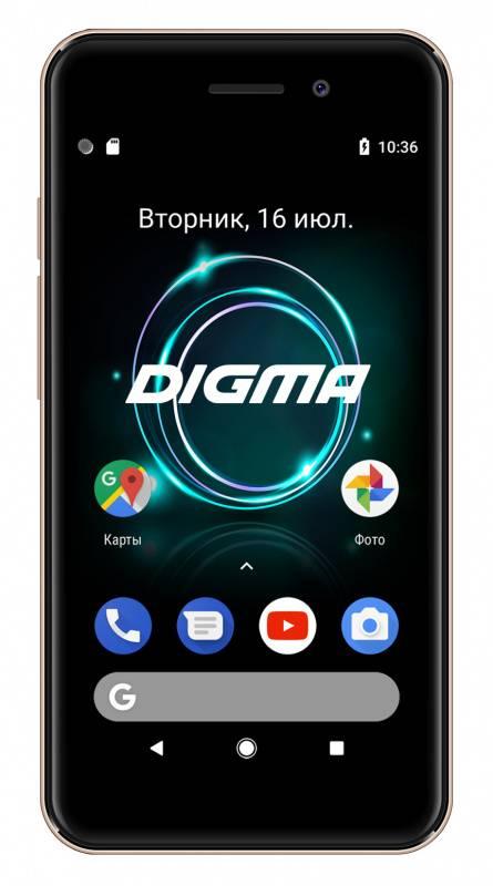 Смартфон Digma A453 3G Linx 8ГБ золотистый (LT4038PG) - фото 1