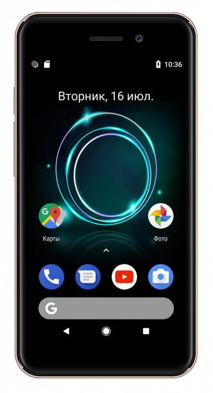 Смартфон Digma A453 3G Linx 8ГБ золотистый (LT4038PG) - фото 2