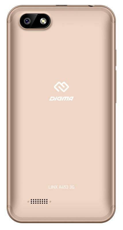 Смартфон Digma A453 3G Linx 8ГБ золотистый (LT4038PG) - фото 3