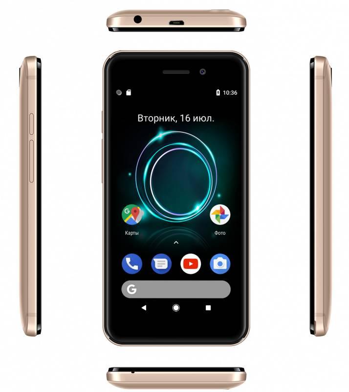 Смартфон Digma A453 3G Linx 8ГБ золотистый (LT4038PG) - фото 7