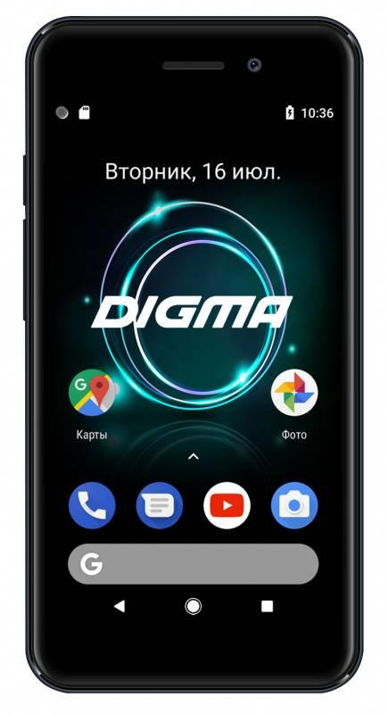 Смартфон Digma A453 3G Linx 8ГБ серый (LT4038PG) - фото 1
