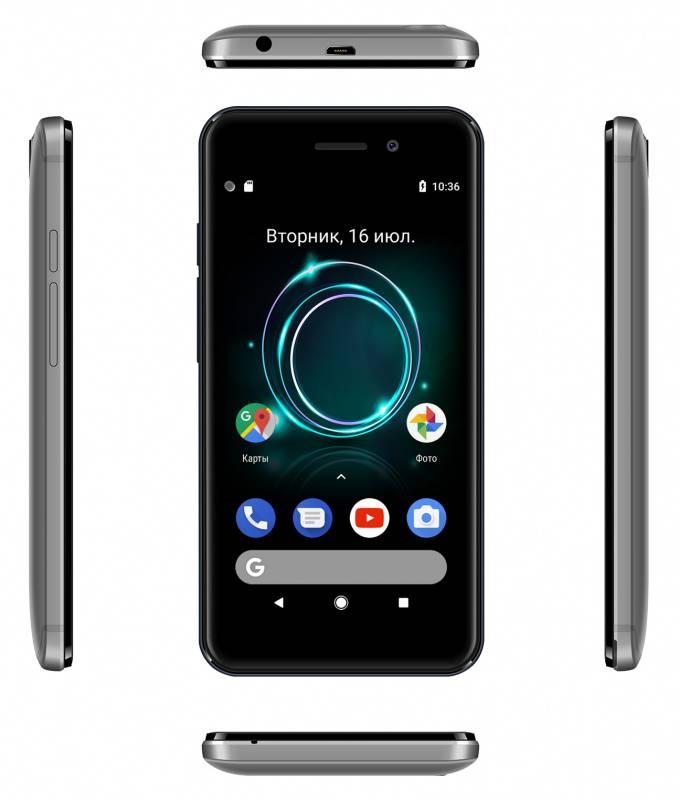 Смартфон Digma A453 3G Linx 8ГБ серый (LT4038PG) - фото 7