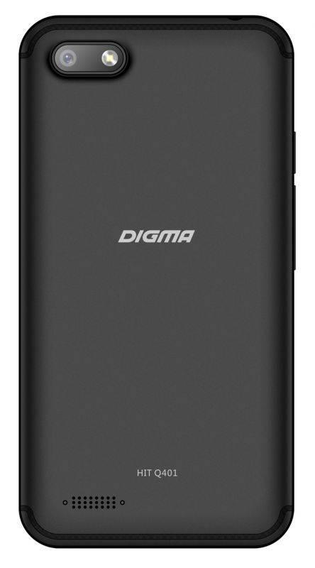 Смартфон Digma HIT Q401 3G 8ГБ черный (HT4039PG) - фото 2