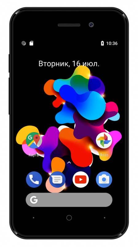 Смартфон Digma HIT Q401 3G 8ГБ черный (HT4039PG) - фото 3