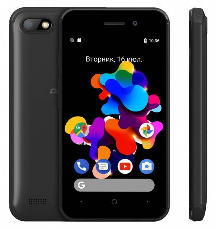 Смартфон Digma HIT Q401 3G 8ГБ черный (HT4039PG) - фото 4