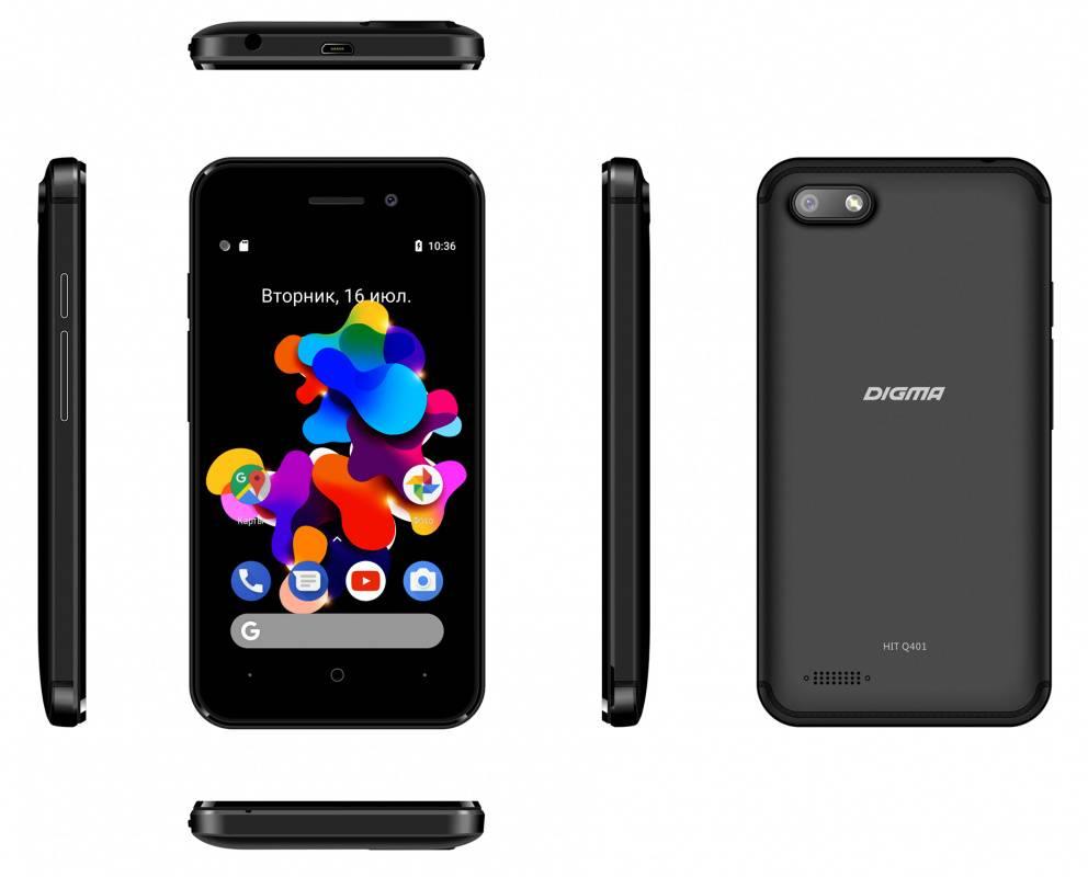 Смартфон Digma HIT Q401 3G 8ГБ черный (HT4039PG) - фото 7