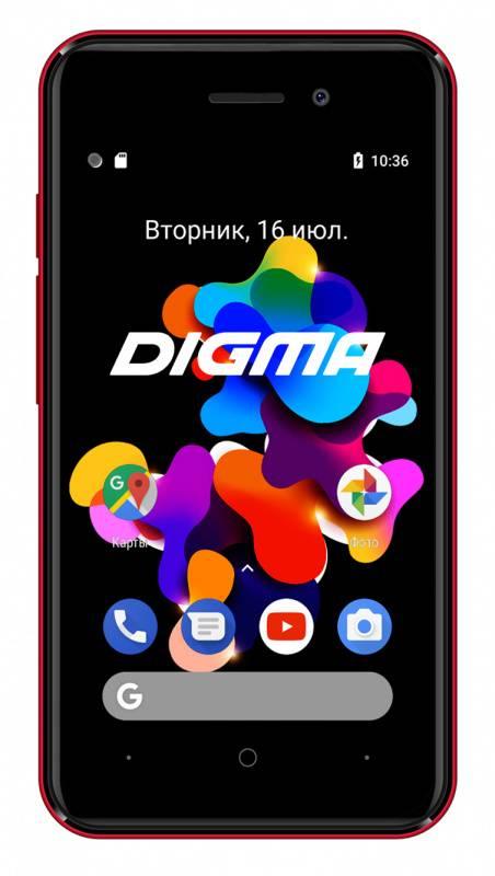 Смартфон Digma HIT Q401 3G 8ГБ красный (HT4039PG) - фото 1