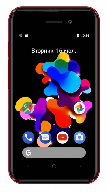 Смартфон Digma HIT Q401 3G 8ГБ красный - фото 3