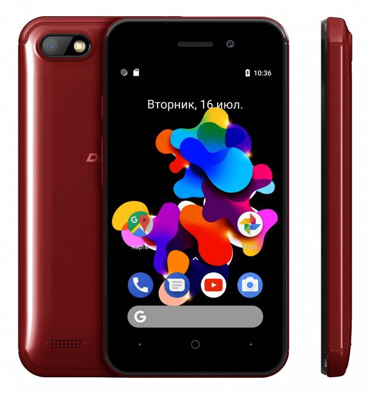 Смартфон Digma HIT Q401 3G 8ГБ красный (HT4039PG) - фото 4
