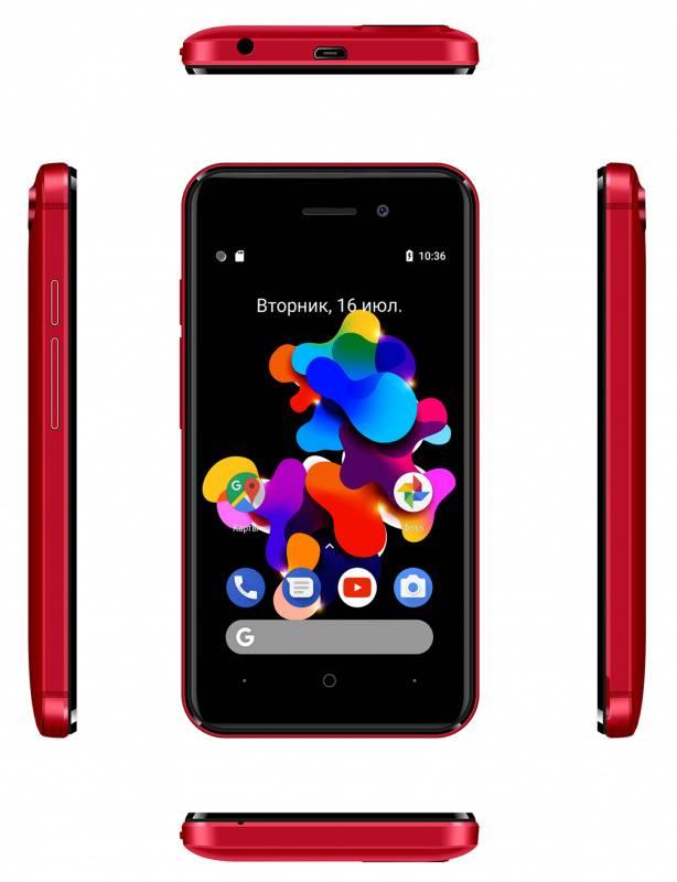 Смартфон Digma HIT Q401 3G 8ГБ красный - фото 6