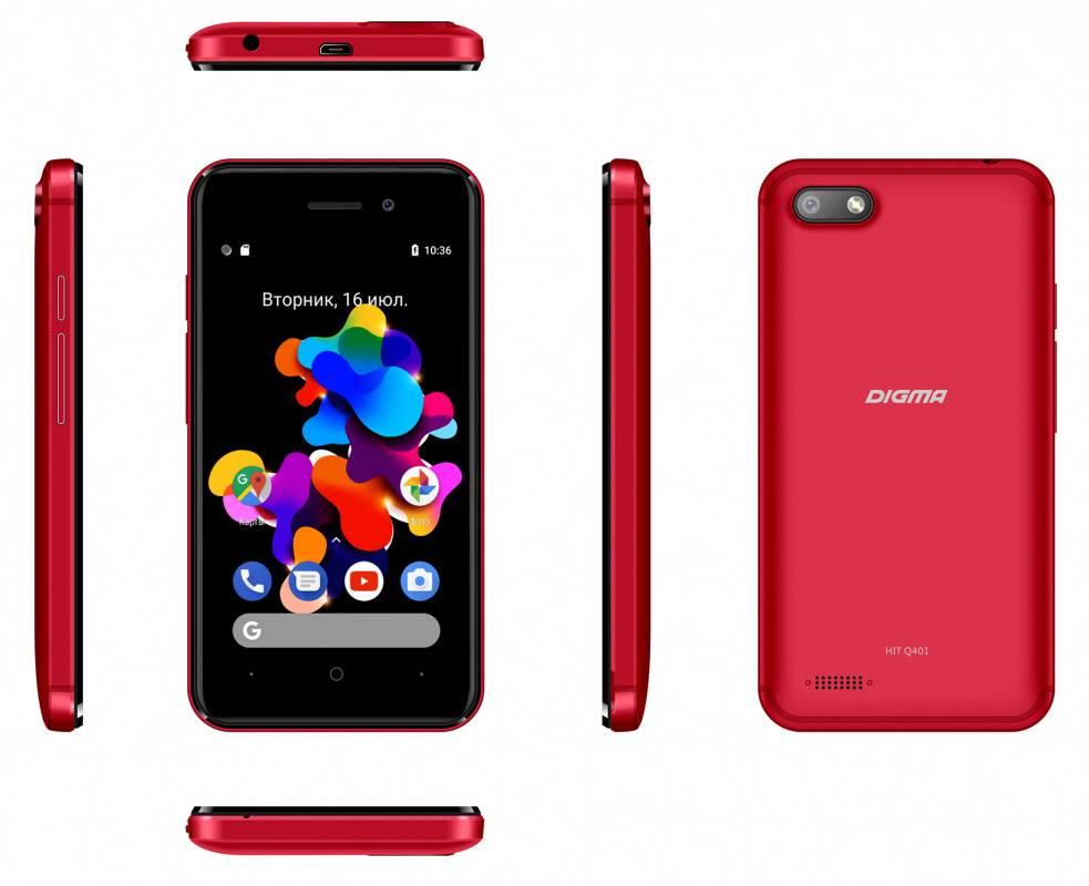 Смартфон Digma HIT Q401 3G 8ГБ красный - фото 7