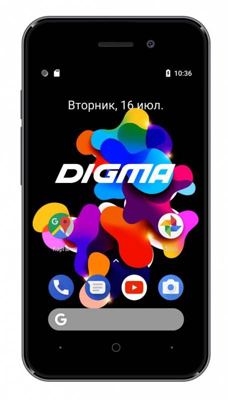 Смартфон Digma HIT Q401 3G 8ГБ серый титан (HT4039PG) - фото 1