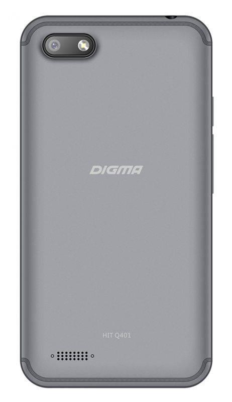Смартфон Digma HIT Q401 3G 8ГБ серый титан - фото 2