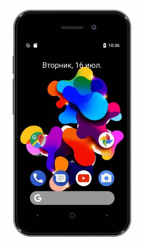 Смартфон Digma HIT Q401 3G 8ГБ серый титан (HT4039PG) - фото 3