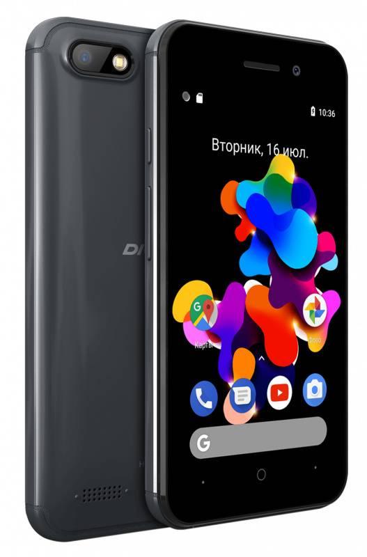 Смартфон Digma HIT Q401 3G 8ГБ серый титан (HT4039PG) - фото 5