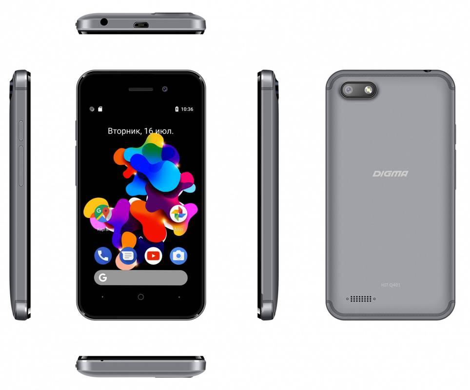 Смартфон Digma HIT Q401 3G 8ГБ серый титан (HT4039PG) - фото 7