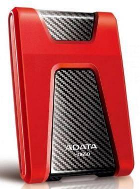 Внешний жесткий диск 2Tb A-Data DashDrive Durable HD650 красный USB 3.0 (AHD650-2TU31-CRD)