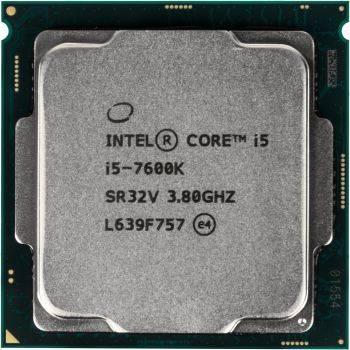 Процессор Intel Core i5 7600K, Socket-1151, частота ядра 3.8ГГц, 4-ядерный, L3 кэш 6Мб, графическое ядро Intel HD Graphics 630, тепловыделение 91Вт, макс. температура 100°С, Box (BX80677I57600K S R32V)