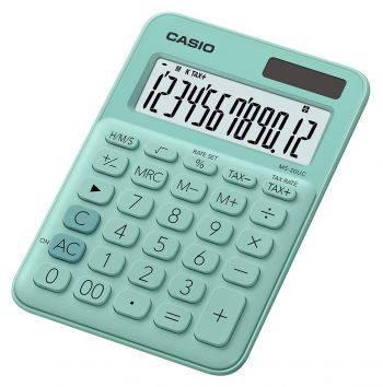 Калькулятор настольный Casio MS-20UC-GN-S-EC зеленый 12-разр.