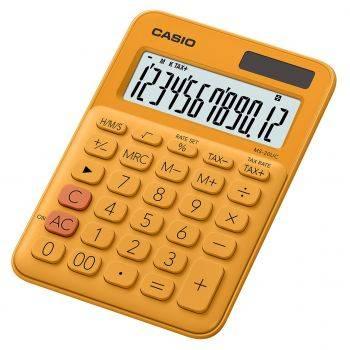 Калькулятор настольный Casio MS-20UC-RG-S-EC оранжевый 12-разр.
