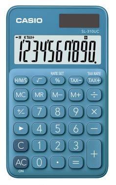 Калькулятор карманный Casio SL-310UC-BU-S-EC синий 10-разр.