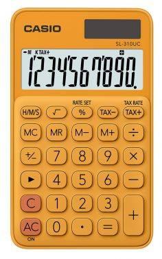 Калькулятор карманный Casio SL-310UC-RG-S-EC оранжевый 10-разр.