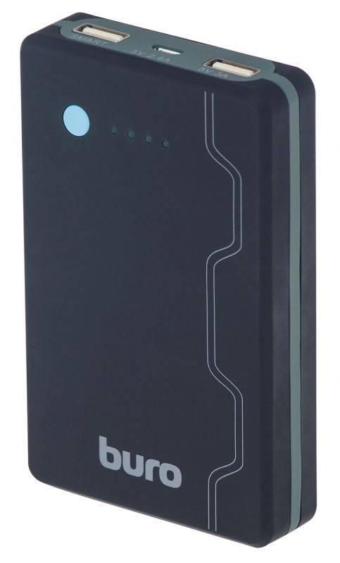 Мобильный аккумулятор BURO RA-13000-QC3.0 черный - фото 1