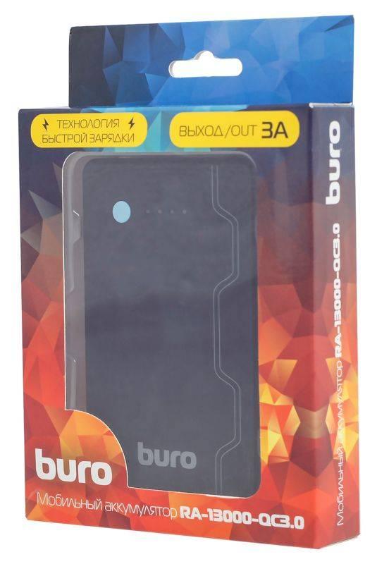 Мобильный аккумулятор BURO RA-13000-QC3.0 черный - фото 7