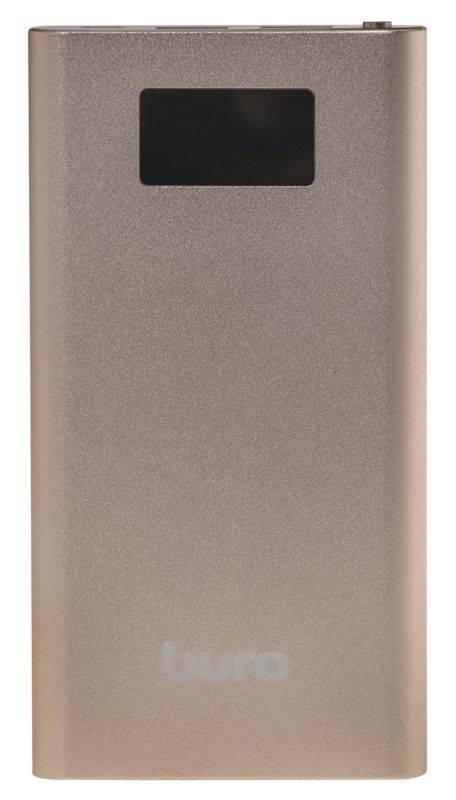 Мобильный аккумулятор BURO RA-10000-QC3.0-I&O золотистый - фото 2