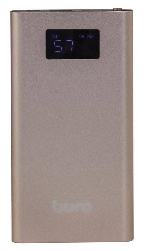 Мобильный аккумулятор BURO RA-10000-QC3.0-I&O золотистый - фото 3