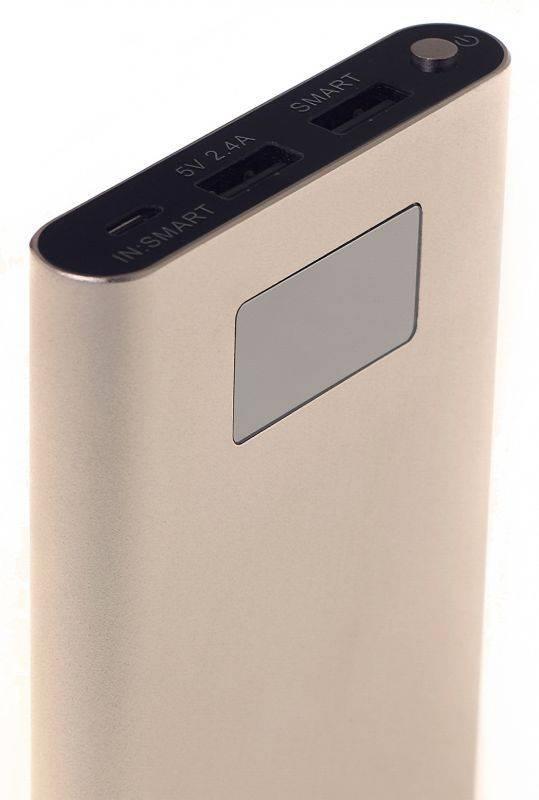 Мобильный аккумулятор BURO RA-10000-QC3.0-I&O золотистый - фото 6