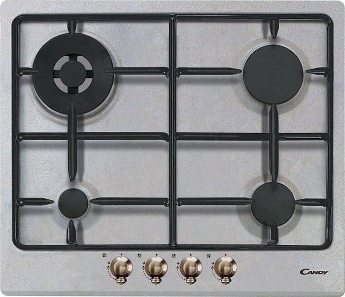 Газовая варочная поверхность Candy CPGC 64 SWPAVG нержавеющая сталь (33801666) - фото 1