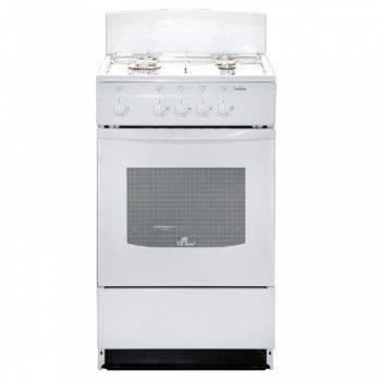Плита газовая De Luxe 5040.45г (щ)-001 белый, решетка эмаль