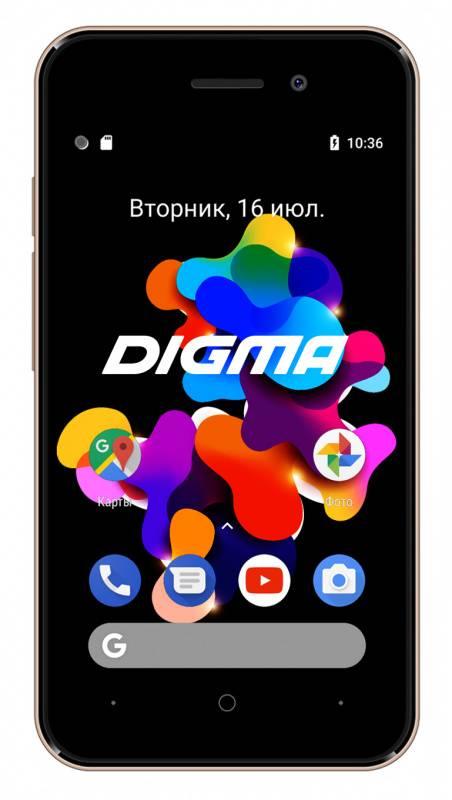 Смартфон Digma Q401 3G HIT 8ГБ золотистый - фото 1