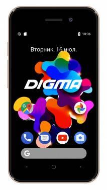 Смартфон Digma HIT Q401 3G 8ГБ золотистый (HT4039PG)