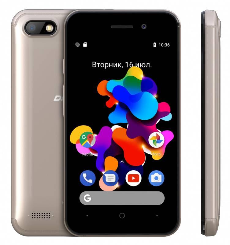 Смартфон Digma HIT Q401 3G 8ГБ золотистый (HT4039PG) - фото 4