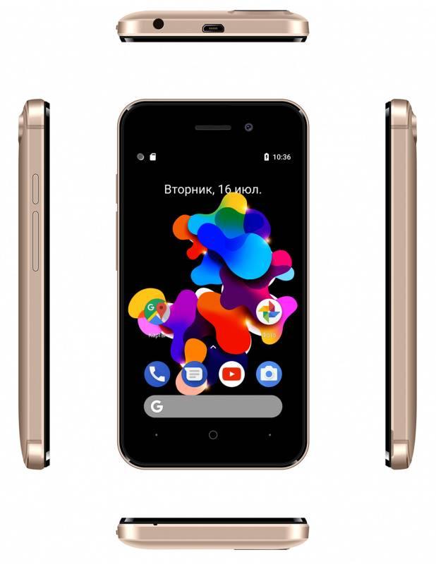 Смартфон Digma HIT Q401 3G 8ГБ золотистый (HT4039PG) - фото 6