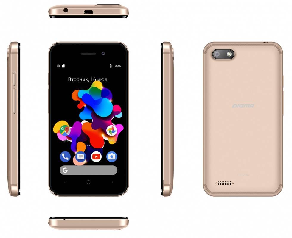 Смартфон Digma Q401 3G HIT 8ГБ золотистый - фото 7