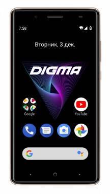 Смартфон Digma Q500 3G HIT 8ГБ золотистый (HT5035PG)