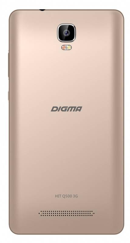 Смартфон Digma HIT Q500 3G 8ГБ золотистый (HT5035PG) - фото 2
