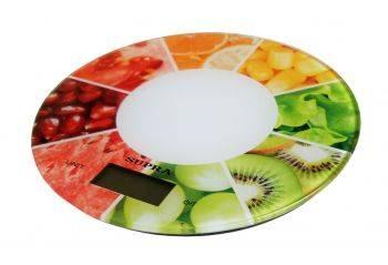 Кухонные весы Supra BSS-4603 белый/ягоды (11635)