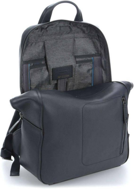 Рюкзак Piquadro David синий, кожа натуральная (CA4092W86/BLU) - фото 3