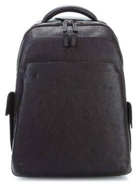 Рюкзак мужской Piquadro Black Square черный, кожа натуральная (CA3444B3BM/N)