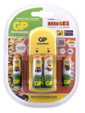 Аккумулятор + зарядное устройство AA GP PB350GS250DME3 Гадкий Я-3 (4шт)