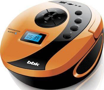 Магнитола BBK BS10BT черный / оранжевый