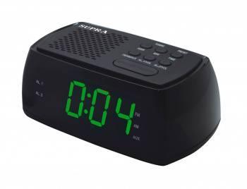 Радиобудильник Supra SA-45FM черный