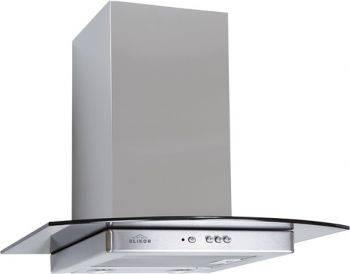 Каминная вытяжка Elikor Кристалл 50Н-430-К3Д нержавеющая сталь/тонированное стекло (КВ II М-430-50-306)